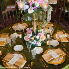 Beautiful Wedding Decor by Accents by Sage at Historic Hotel Woodland